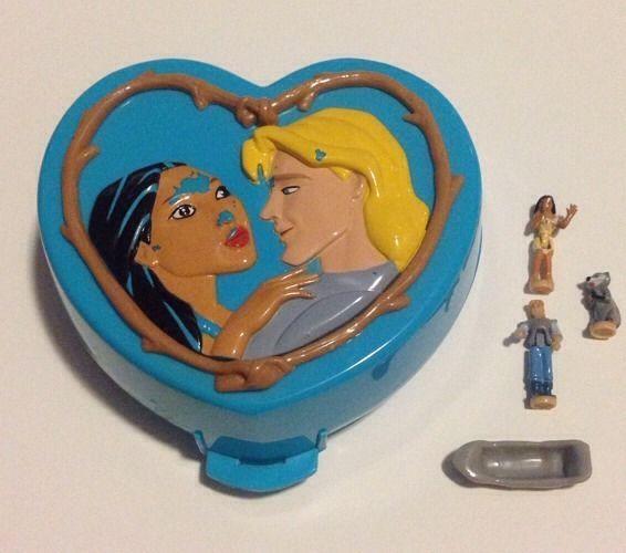Vintage Disney Polly Pocket Pocahontas Playset 1995 Blue