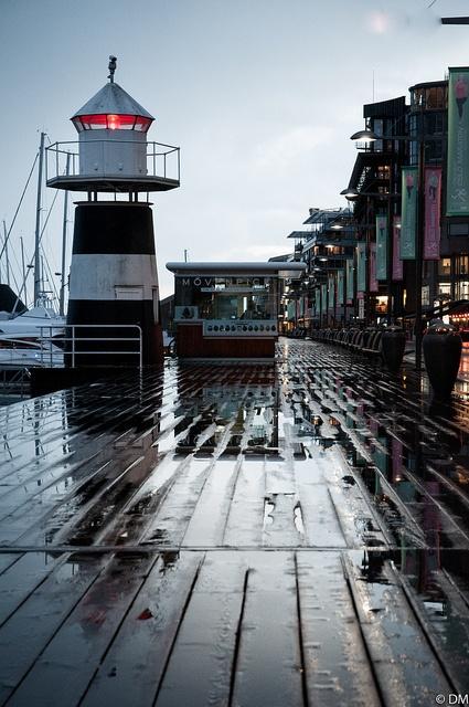 Dockside lighthouse Norway.