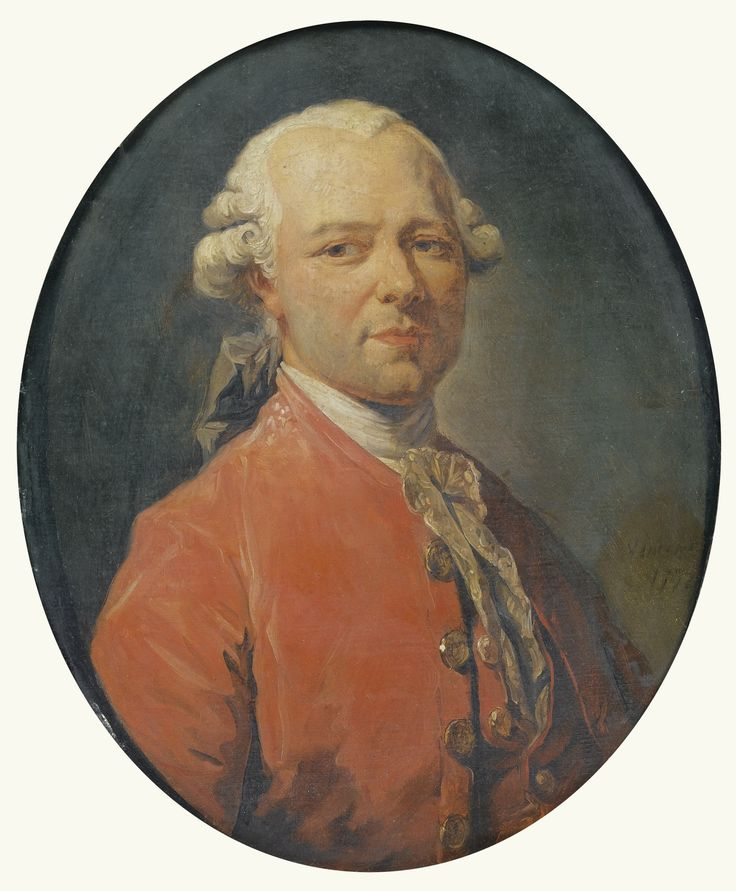 FRANÇOIS-ANDRÉ VINCENT ; PORTRAIT OF THE PAINTER HOUEL ; SIGNED AND DATED ON THE RIGHT VINCENT / 1772 ;
