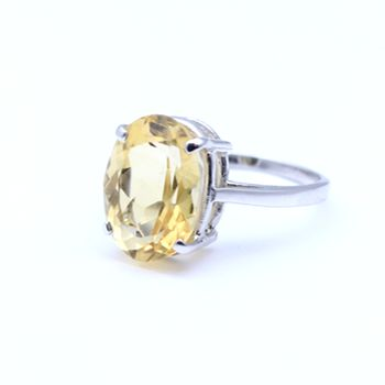 Citrine set in 14 ct White Gold. View more coloured stone rings online or in store.  www.dor.co.nz  98 Richmond Rd, Grey Lynn. ‪   #colouredstones #gemstones #jewellery #shoponline #jewelry #ring #colouredstonering #citrine #whitegold #14ctwhitegold #yellow
