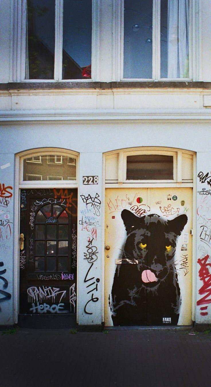 Black Panther, Street art, Amsterdam