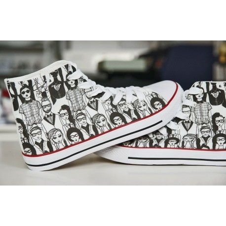 HIPSTERS. DESIGN YOUR OWN PRINT ON SNEAKERS AT WANNASHOE.COM OR CHOOSE FROM OUR COLLECTION.