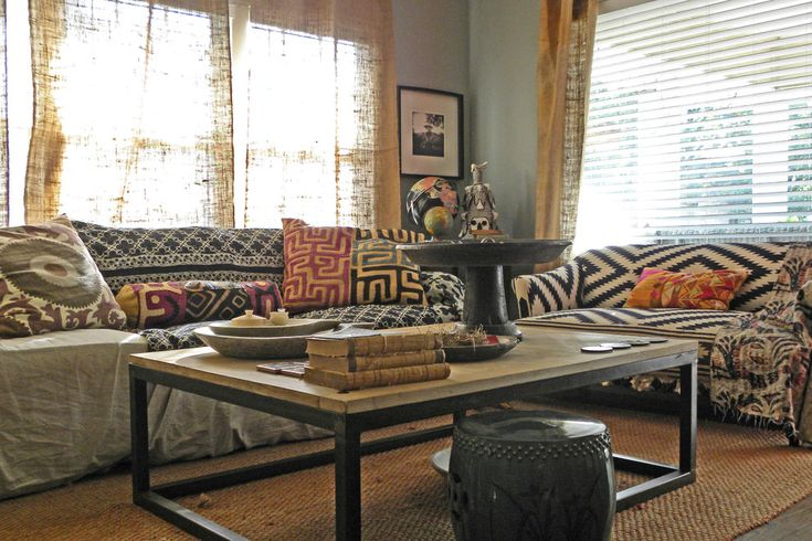 Boho Bungalow Home Style Pinterest Brown Curtains