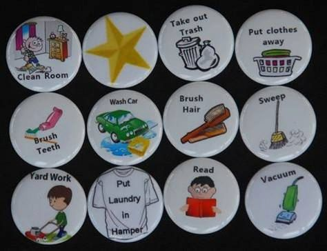 Chore Magnets Pick ANY 15 by TrainMeUp on Etsy, $8.99