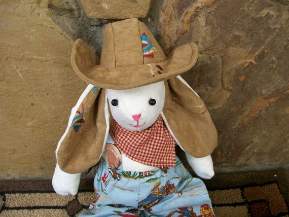 Horses And Cowboys Cuddle Bunny Minky Retro Western Baby Shower Gift Basket Blue Red Brown on Etsy, $42.00