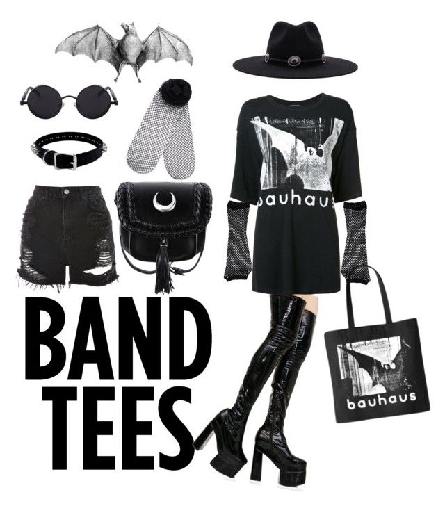 Bela Lugosi 's Dead by cabaret-carousel10r on Polyvore featuring polyvore fashion style R13 Topshop Monki Sugarbaby Brixton clothing