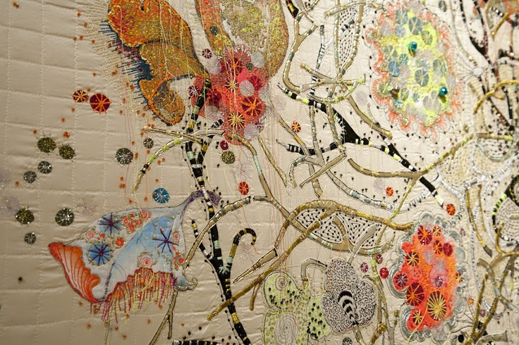 Embroidery Detail by Louise Gardiner