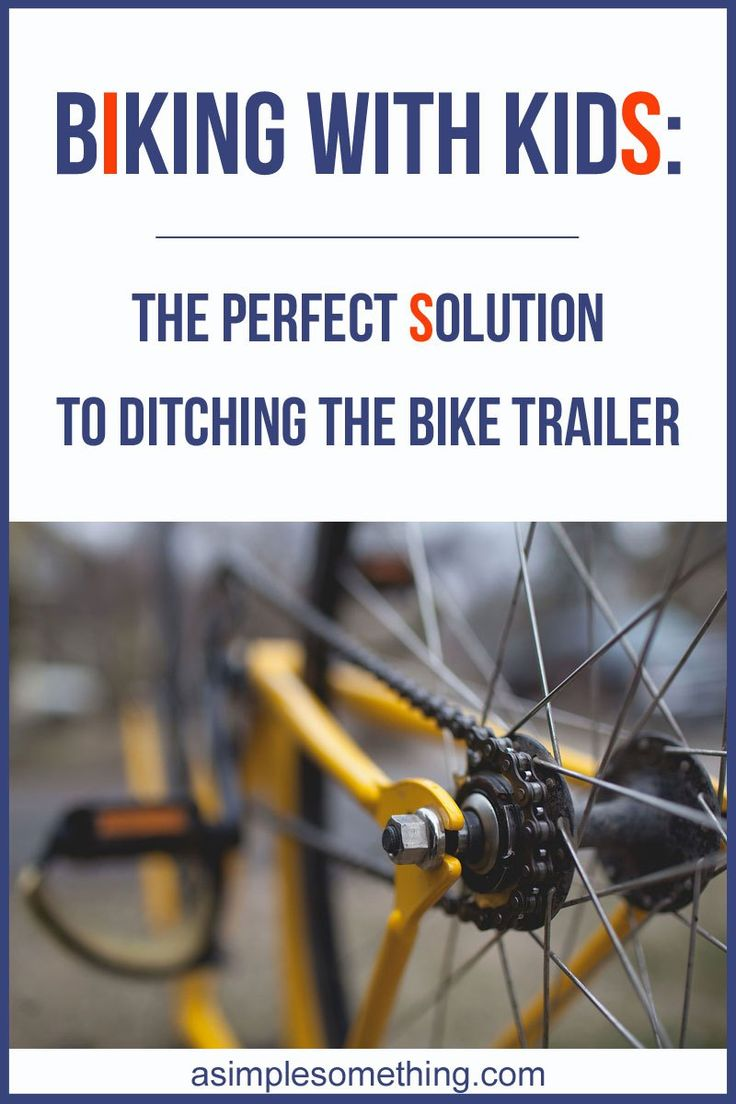 Biking with kids - Perfect bike trailer - Tow your kids on the back of your bike - Cycling with kids. Ditch the trailer and get them on two wheels