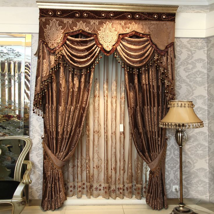 Home Window Decoration Top Fashion Classical Curtain Precision Dodechedron Velvet Jacquard Curtains Free Shipping