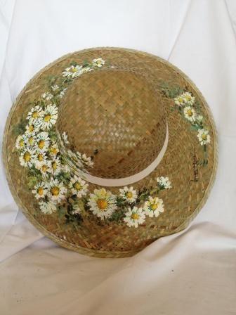 #Cappello in paglia dipinto a mano da Ivana Magri www.ivanamagri.it ivanamagri@ivanamagri.it