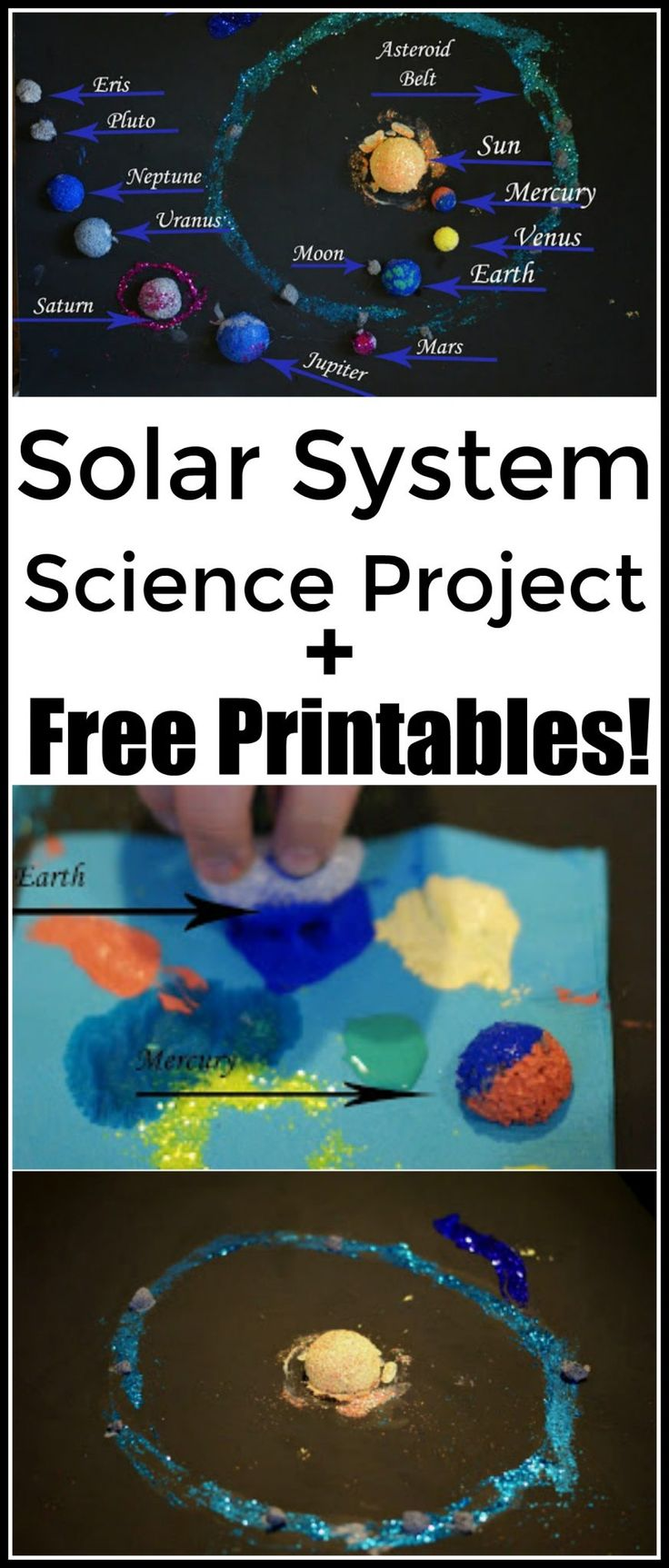 Cool sensory planets project for your solar system lessons! A fun idea before the solar eclipse in August!