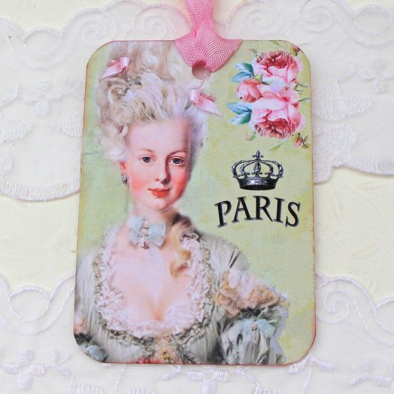 Marie Antoinette French Tags Gift Hang by EnchantedQuilling