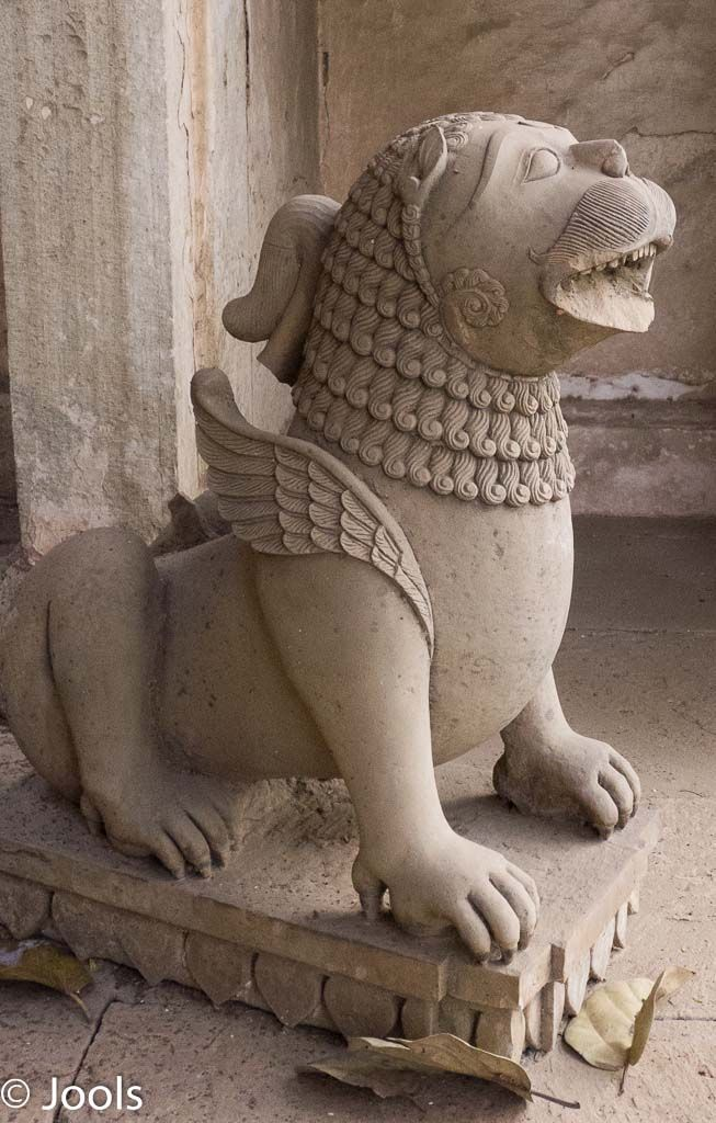 A mausoleum carved figure at Deo Bargh. Even damaged it is a powerful figure, very precisely carved.