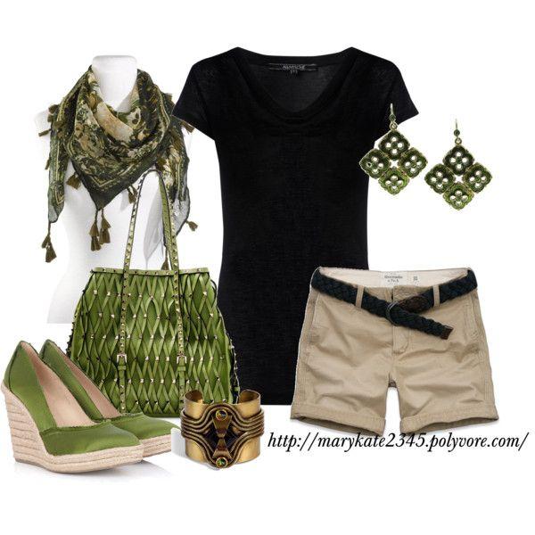 Black, Khaki and Green Summer Casual