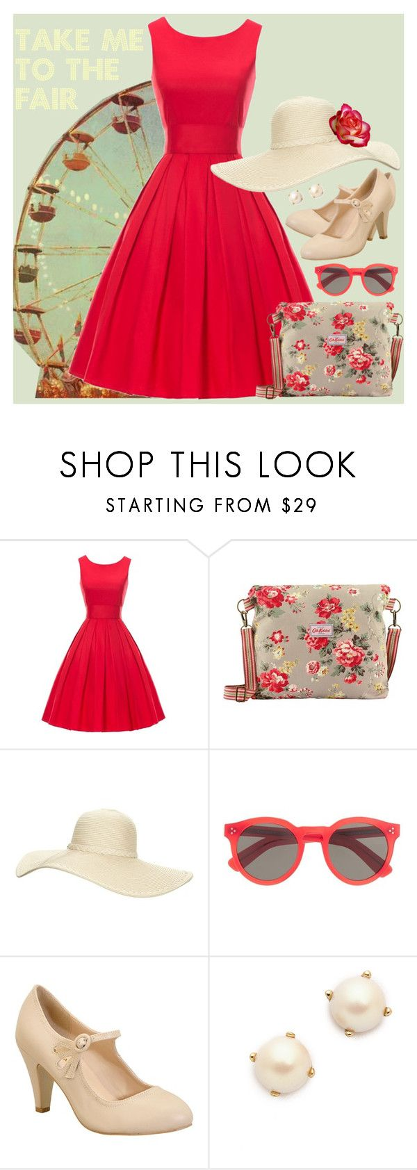 """""""Take Me to the Fair"""" by rochellechristine ❤ liked on Polyvore featuring Cath Kidston, Reger by Janet Reger, Illesteva, Chase & Chloe, Kate Spade, Summer, Fall and Winter"""