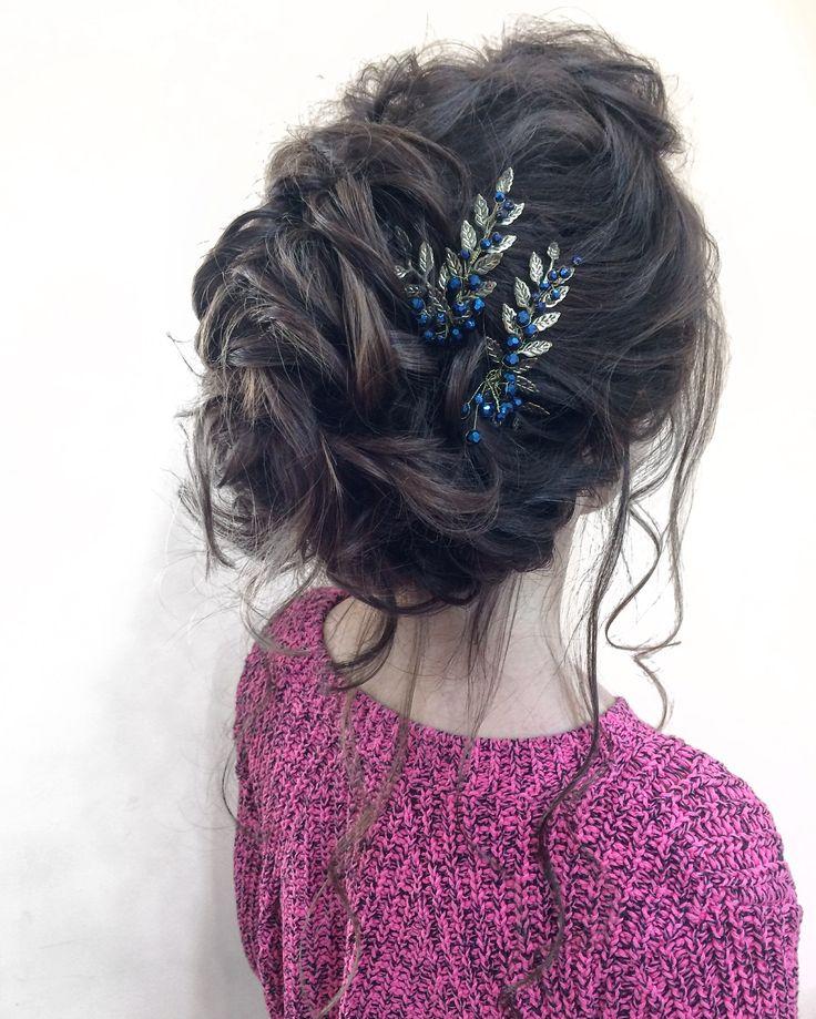 Вечерняя причёска  Средней высоты  #brideshair #hairstyle #wedding