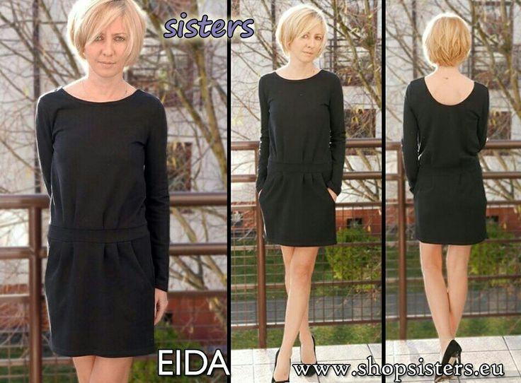 dress EIDA - manufacturer Sisters #sisters #dress #sukienka #minisukienka #minidresses #blackdress #czarnasukienka  #style #newstyle #fashion #blogfashion #streetstyle www.shopsisters.eu