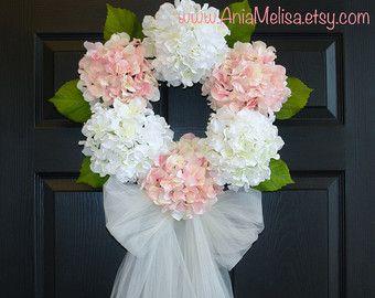 lente krans zomer kransen voor voordeur kransen bruiloft kransen voor deur-hortensia krans bruiloft-voordeur decoraties-sluier