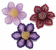 Beaded Spring Flower Pattern by Sandra D. Halpenny at Bead-Patterns.com