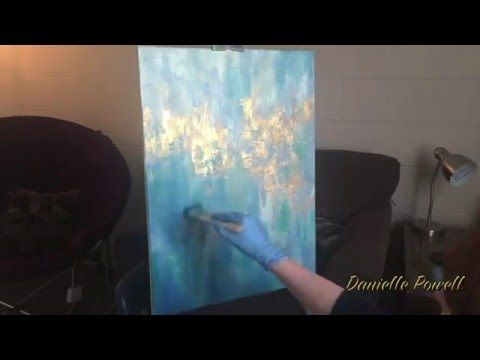 Abstract painting created with modeling paste, gold leaf, and oil paint on a stretched canvas. Thanks for watching! Enjoy! Music: bensound.com WHERE ELSE TO ...