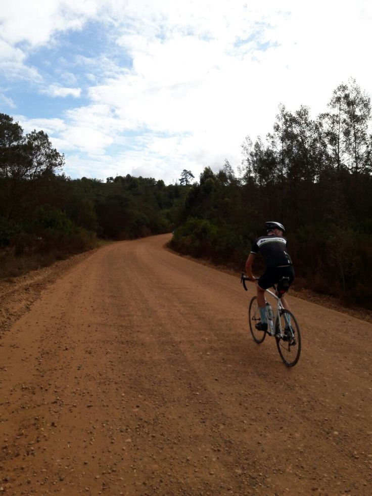 Cycling in Plettenberg Bay was a lot fun! (and yes I'm riding off road with my road bike in this pic!)