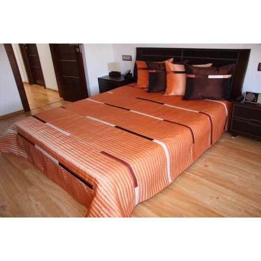 Luxusní přehozy na postel v oranžové barvě - dumdekorace.cz