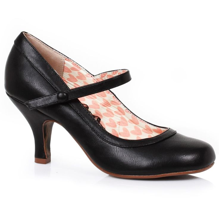 Bettie Page 'Bettie' Mary Jane Shoes - Black | US sizes 6, 7, 8, 9, 10, 11