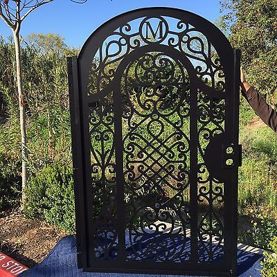 Metal Gate Free Monogram Pedestrian Walk Iron Garden Ornamental Made in USA
