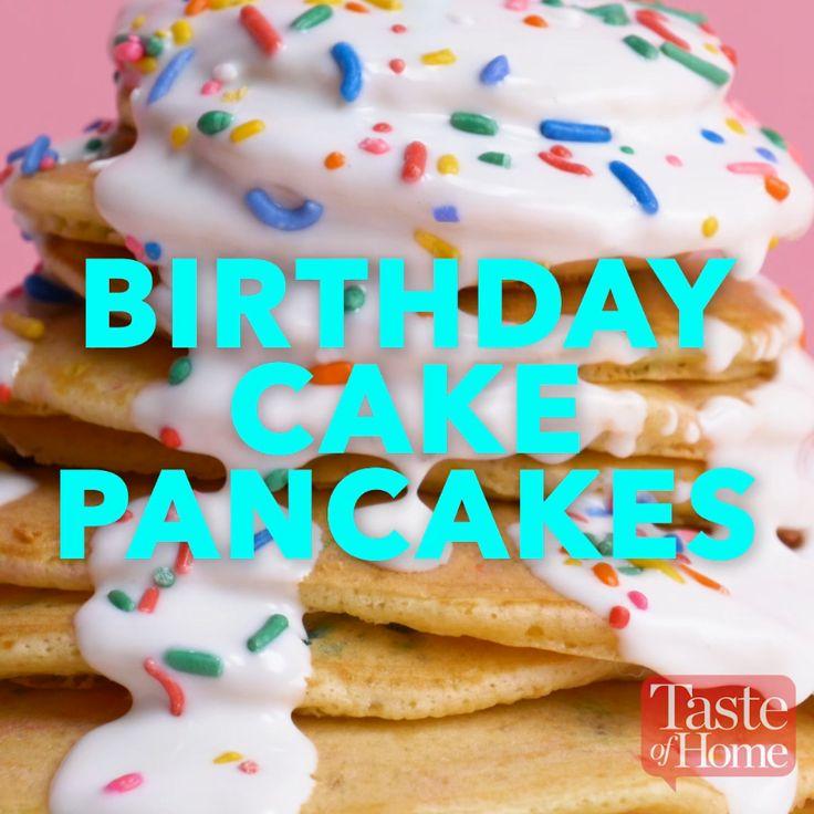 Birthday Cake Pancakes recipe  – Recipe Videos