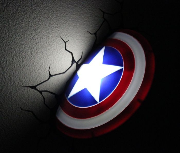 No More Night Terrors: Captain America Shield Nightlight