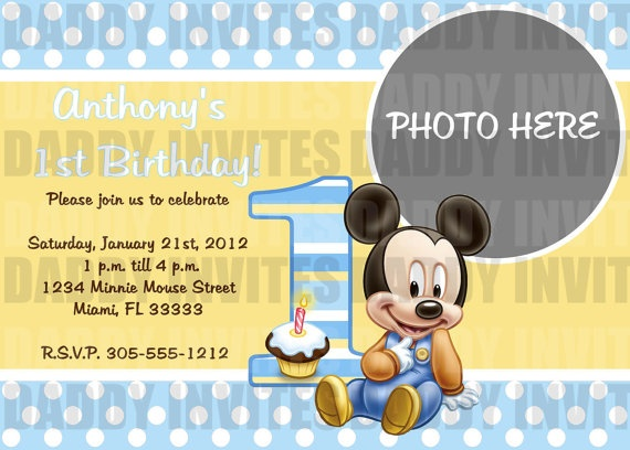 22 best invitations images on pinterest birthday party ideas baby mickey mouse birthday invitation by daddyinvites on etsy 1000 pronofoot35fo Choice Image