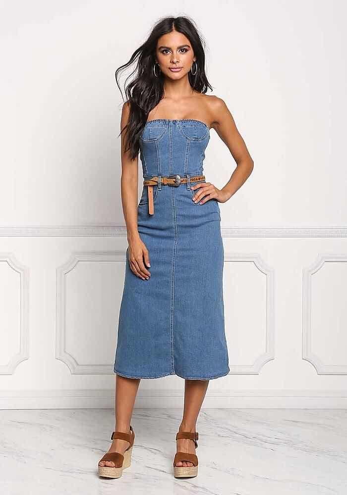 e9e9f9858a790 41+ Vestidos Strapless de Moda para lucir Elegante (Cortos y Largos ...