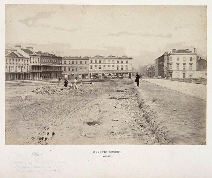 Wynyard Square, Sydney 1858