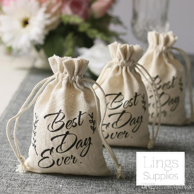 2017 Candy Bags 10*15cm Wedding Accessories Favor Holders Best Days Ever Logo Top Quality Linen New Arrival Candy Bags Favor Holders Wedding Accessories Online with $39.0/Piece on Lpdress's Store   DHgate.com