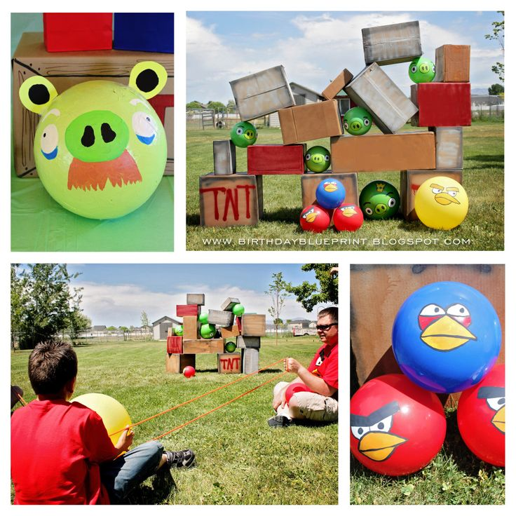 Angry Bird Birthday party ideas | ... waited for their turn at the main activity. The real Angry Birds game