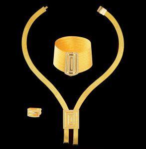 Taşlı Pana Modeli Altın Kaplama Gümüş Trabzon Seti ATG1421