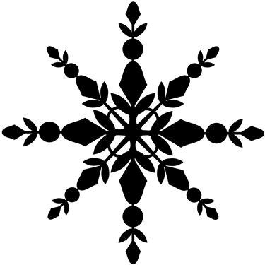 Scandinavian snowflake cling stamp