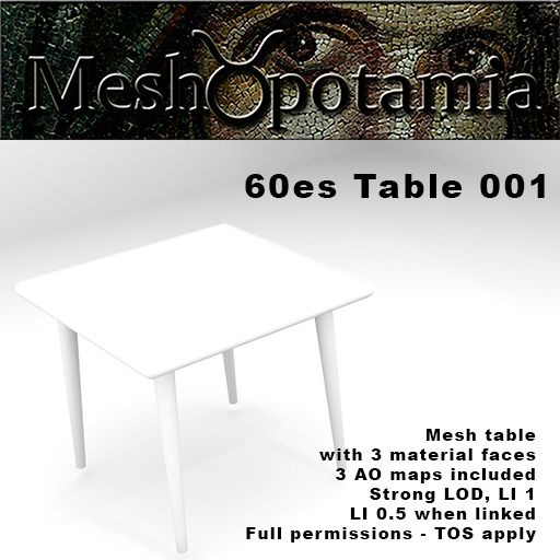 Meshopotamia 60s Table 001