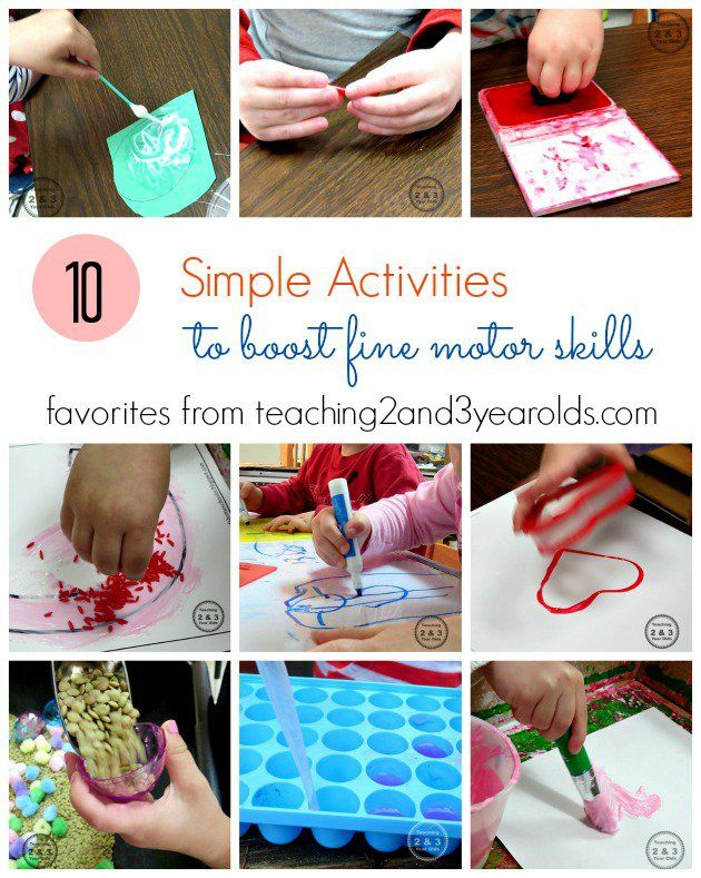 10 simple activities to boost fine motor skills for toddlers and preschoolers - Teaching 2 and 3 Year Olds
