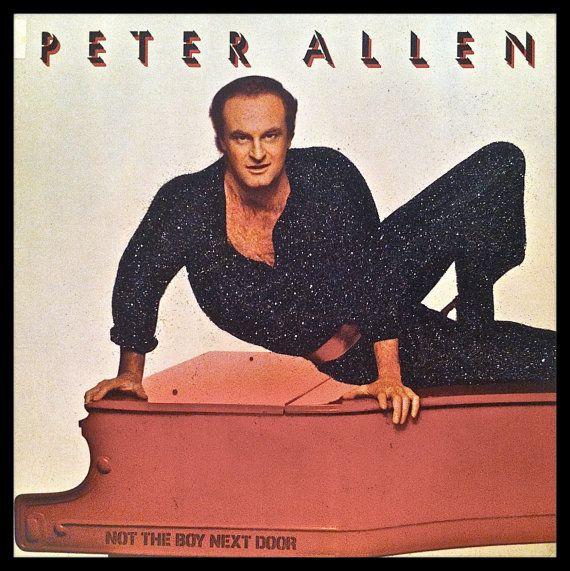Glittered Vintage Peter Allen Album
