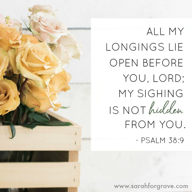 Psalm 38:9 | www.sarahforgrave.com
