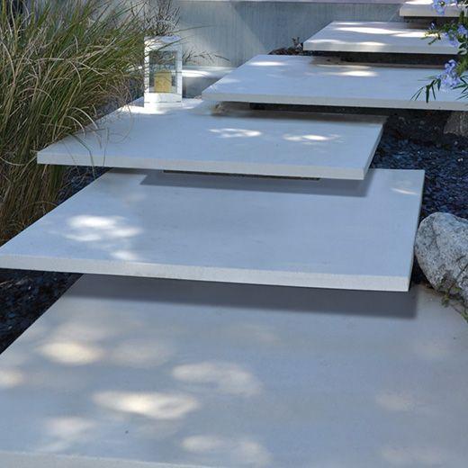 Conceo Alpinweiss Stufenplatten 07