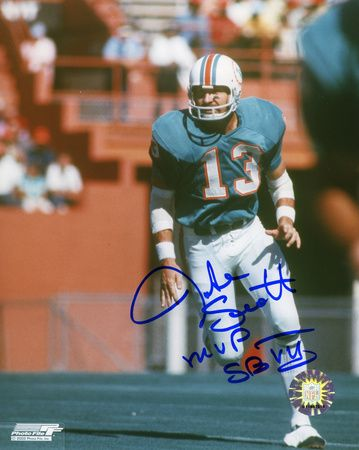 Jake Scott Miami Dolphins with 'MVP Super Bowl VII' Autographed Photo (Hand Signed Collectable)