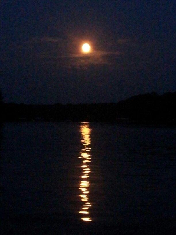 Full moon on Logan Martin Lake