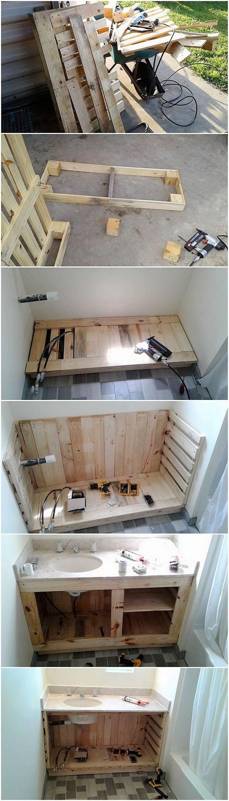 For your bathroom areas, the use of wood pallet can look amazing when it is being put together for the designing of the sink areas. You can arrange the pallet plank stacking for the creation of the sink design where the coverage of the cabinets and shelving units is also part of it in the downside bottom area.