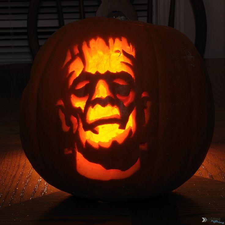 Frankenstein pumpkin doing this this Halloween!