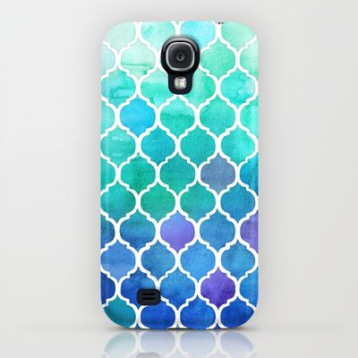 Emerald & Blue Marrakech Meander iPhone & iPod Case $35.00