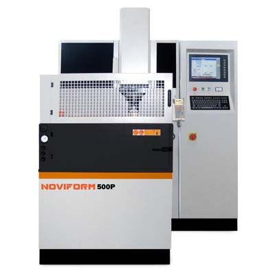 Die Sinking EDM NOVIFORM Precision Product: Noviform 500P  #novick #noviform #edm #diesinking #sinking #compact #machine #small #excellent #rigidity #worktable #axe #accuracy #circuit #electric #discharge #powerful #fuzzy #copper #steel #carbide  #graphite #tungsten #parameters #swissdesign #japan #romania #performance #bench #precision #design #suction #flush #fill
