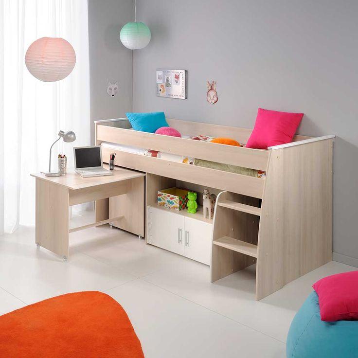 Kinderbett mit stauraum  Die besten 25+ Kinderhochbett mit schreibtisch Ideen auf Pinterest ...