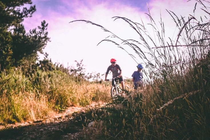 #bicycle #bike #bikers #biking #clouds #cyclist #environment #grass #helmets #landscape #mountain bike #mountain biking #nature #outdoors #people #road #sky #trees #unpaved pathway #wheel